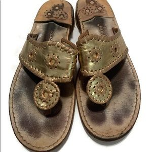 Jack Rogers gold size 9